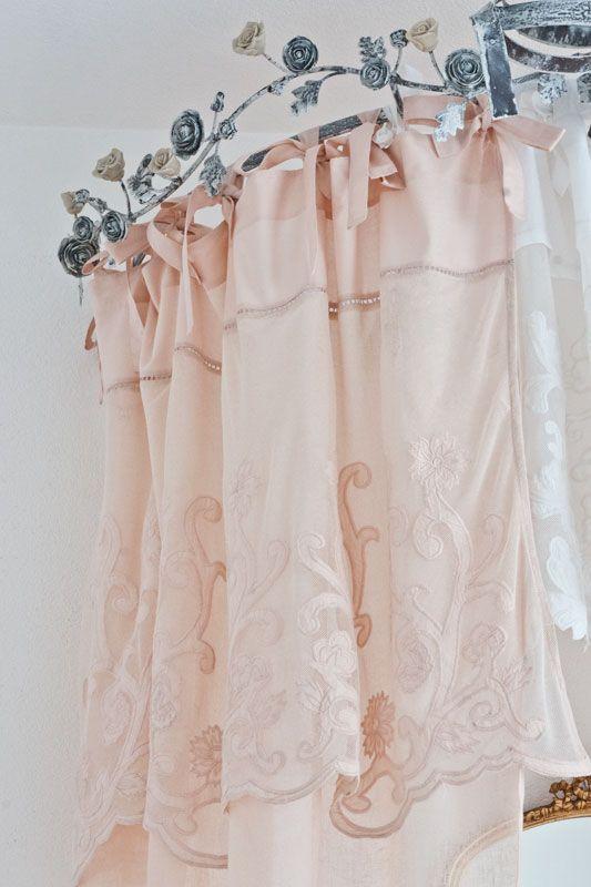 leinen gardine barletta boudoir 140 cm x 280 cm landhausstoffe toile de jouy shabby chic. Black Bedroom Furniture Sets. Home Design Ideas