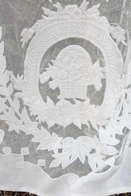 scheibengardine siena 60 cm x 80 cm landhausstoffe toile de jouy shabby chic french country. Black Bedroom Furniture Sets. Home Design Ideas