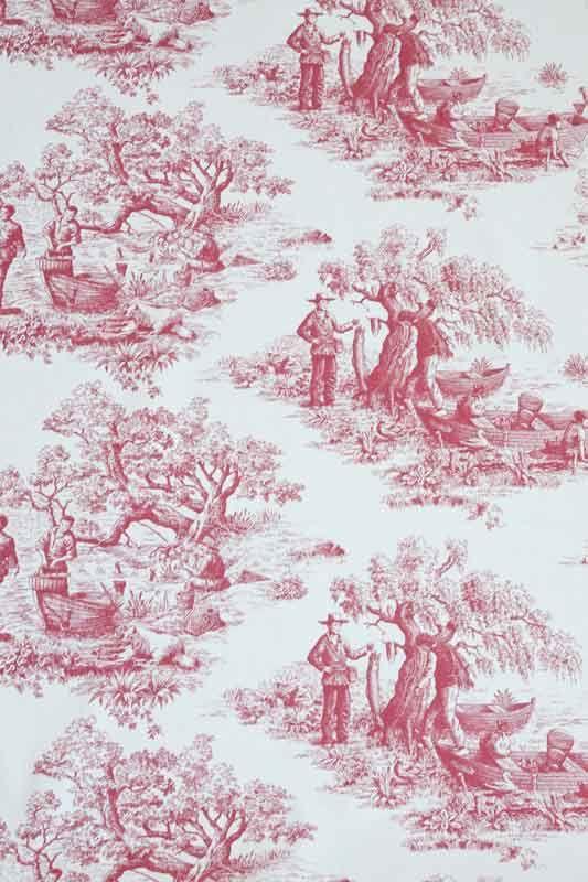 toile de jouy stoff deauville 100 bauwolle 140 cm breit romantisch wohnen atelier abassi. Black Bedroom Furniture Sets. Home Design Ideas