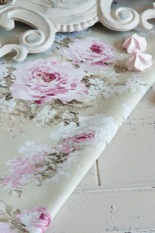 rosenstoff daisy chain landhausstoffe toile de jouy shabby chic french country. Black Bedroom Furniture Sets. Home Design Ideas