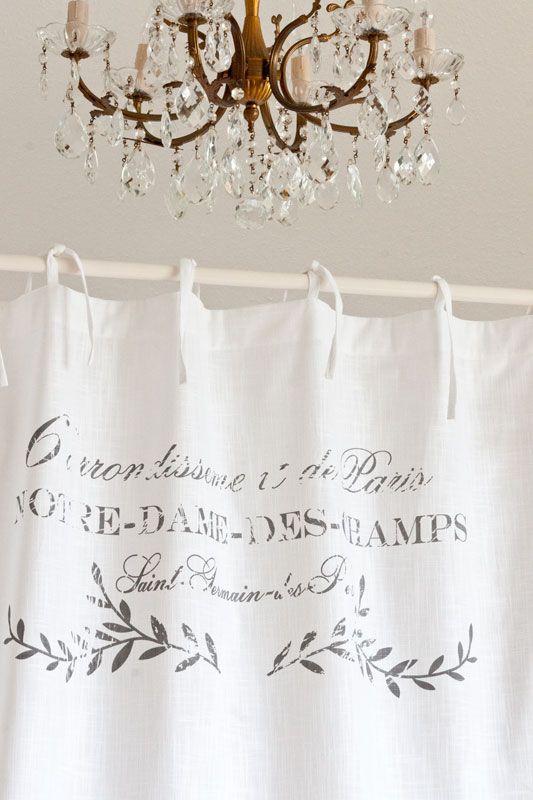Shabby Chic Gardine Paris Blanc - Romantisch Wohnen - Atelier Abassi