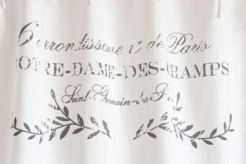Shabby Chic Gardine Paris Blanc - Landhausstoffe, Toile de Jouy ...