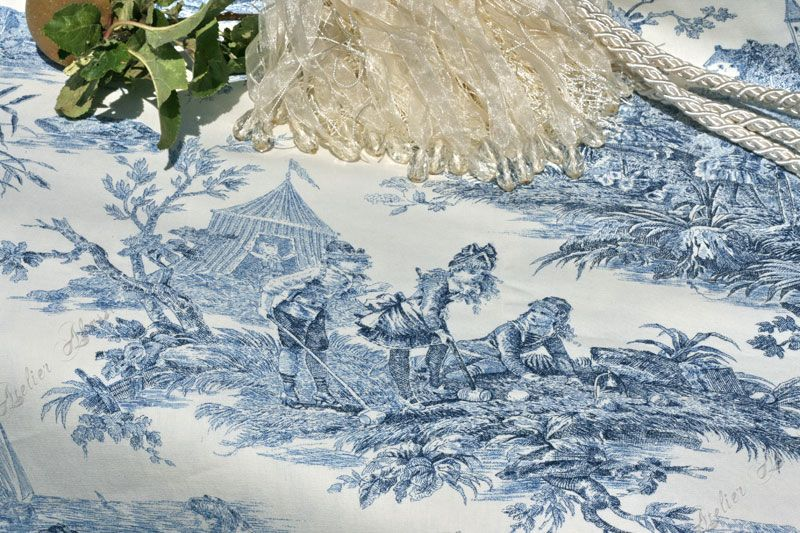 toile de jouy stoff augustine landhausstoffe toile de. Black Bedroom Furniture Sets. Home Design Ideas